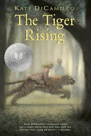 "THE TIGER RISING by Kate DiCamillo    ""Willie May nodded her head but she wasn't listening. She was looking past Rob, past the white sheet, past the laundry room, past the Kentucky Star. 'Who don't?' she said finally. 'Who don't know something in a cage?' ""    read 2/15/15"