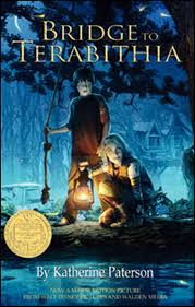 "BRIDGE TO TERABITHIA   by Katherine Paterson    ""He grabbed the end of the rope and swung out toward the other bank with a kind of wild exhilaration and landed gently on his feet, taller and stronger and wiser in that mysterious land.""    read 3/9/15"