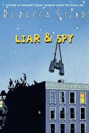 "LIAR & SPY by Rebecca Stead    ""You should really look for cars,"" I tell him.     ""We're a team now,"" he says.  ""You were looking for both of us.""    And then he waves and walks off.    read 3/19/15"