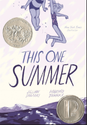 "THIS ONE SUMMER by Jillian & Mariko Tamaki    ""The first time I ever saw a milkweed was on the beach at Awago. I thought they were magic pods. I thought that if we ate them, the fluff would make us grow wings.""    read 6/5/15"