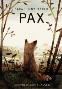 "PAX by Sara Pennypacker    ""The fox felt the car slow before the boy did, as he felt everything first.""    read 7/19/16"