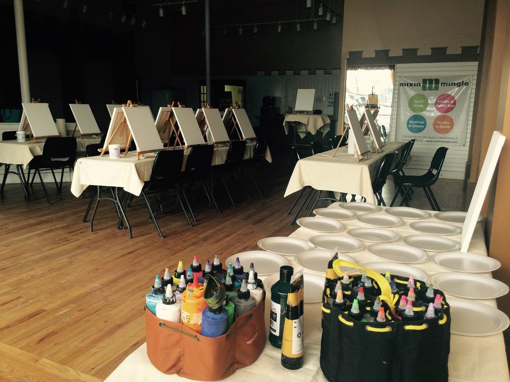 Art Party Setup