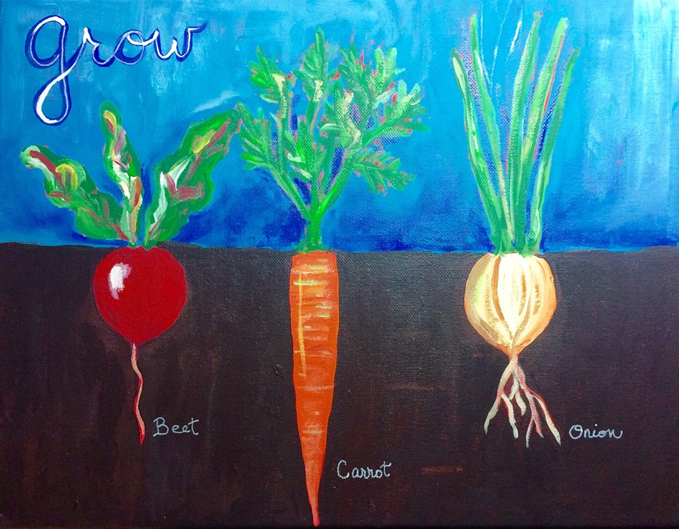 Here is the inspiration painting. There will be room for individual creativity & plants of your choice!
