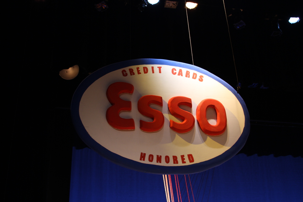 Completed Esso Sign