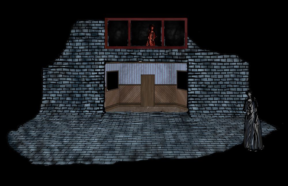 Digital Illustration Packard Home