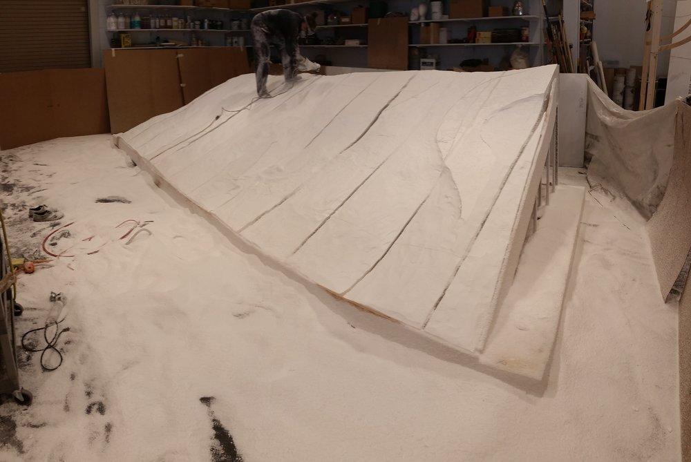 Snow Bank Carve In Progress