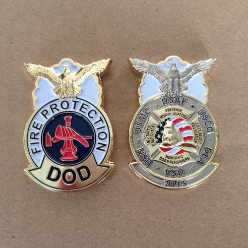 Fire Protection Dod Badge Challenge Coin Patches Harrisburg Gray