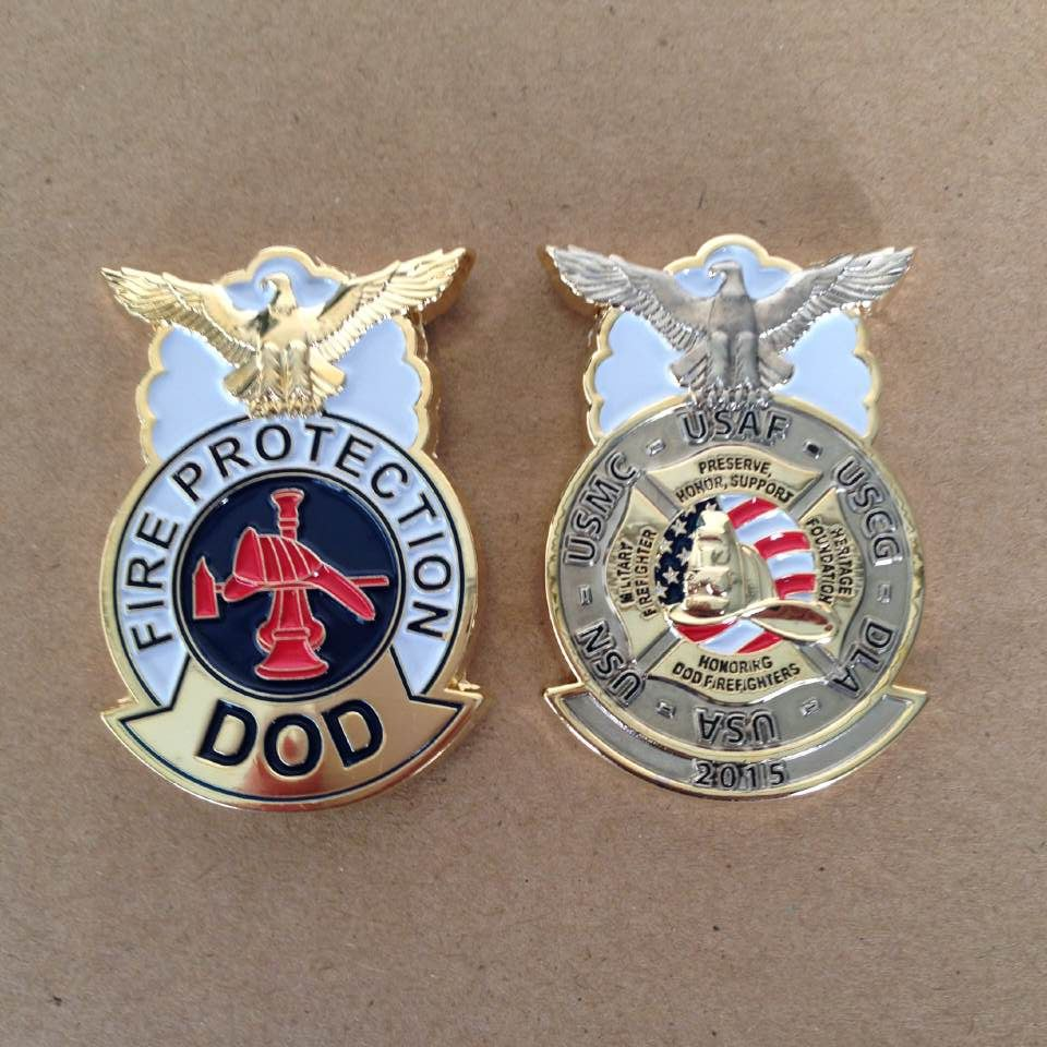 Fire Protection DOD Badge Challenge Coin Patches HARRISBURG Gray Water Ops  GRAY WATER OPS custom coins