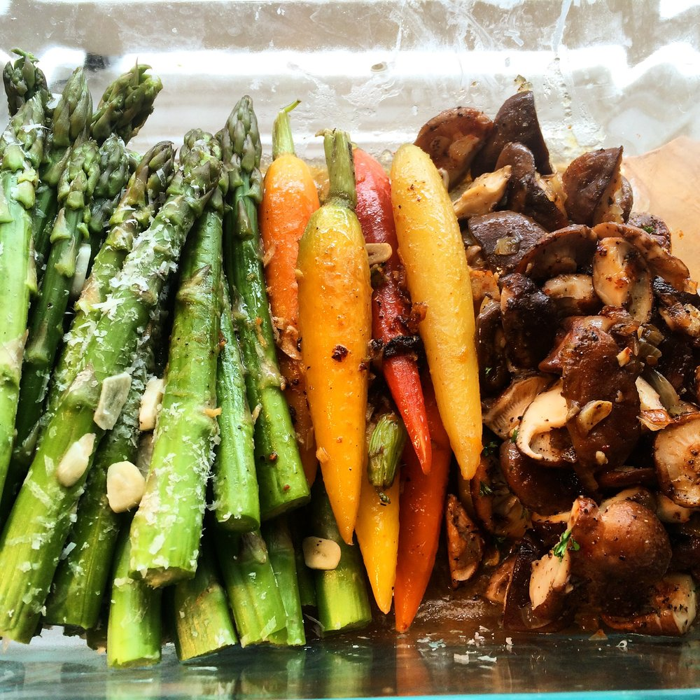 Prepared Vegetables to have on hand when you arrive home