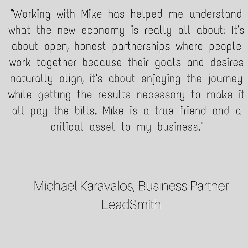 There are only two business strategies available to you. The first is a transactional strategy, recognized by its great lack of caring. The other is deeply caring, or what Mike here describes correctly as People and  (14).png