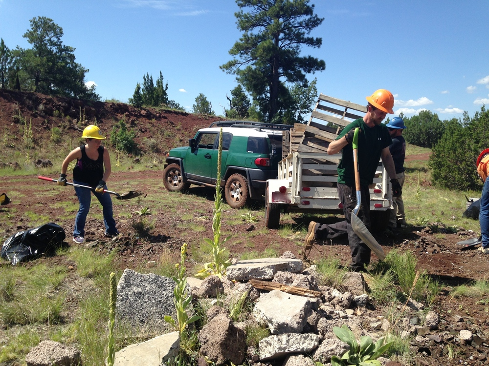 08/15/15 - Trash Cleanup Project with volunteers near Sheep Tank Hill in the Coconino National Forest outside Flagstaff, near Walnut Canyon.Click HERE to view the entire restoration.