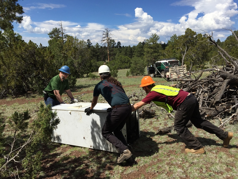 06/13/15 - Trash Cleanup Project with volunteers in the Coconino National Forest outside Flagstaff off Forest Road 791 & Historic Route 66.Click HERE to view the entire restoration.