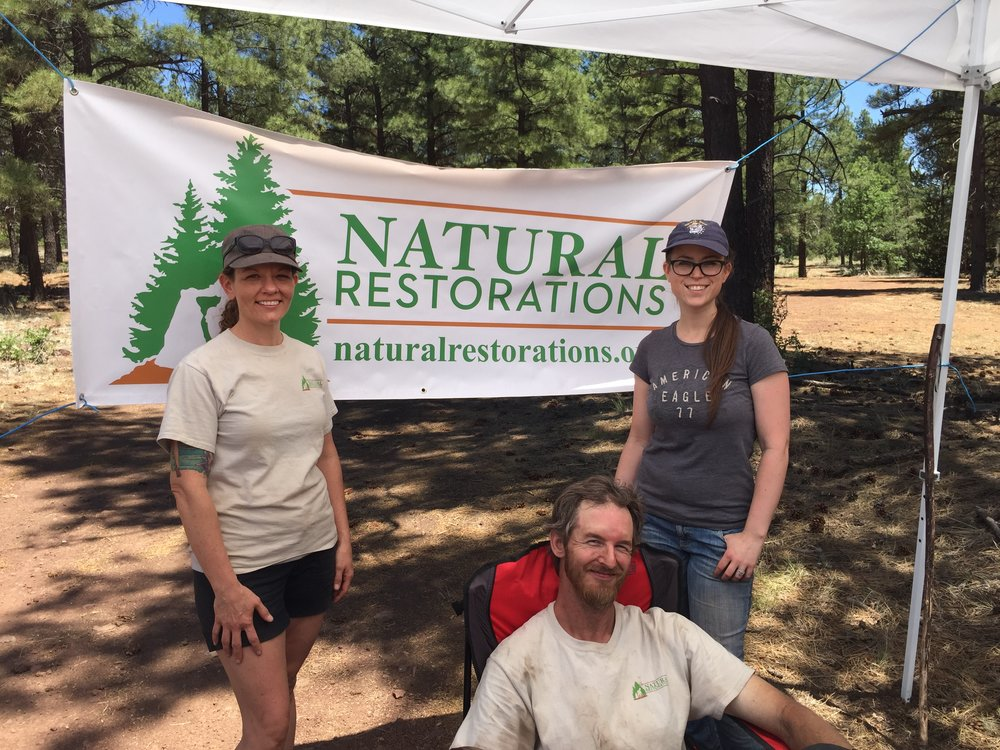 Left to Right: Nicole Corey, Justin Corey, & Shawna Ketcherside. Photo taken after our 07/16/16 Cleanup Project in the Coconino Forest.