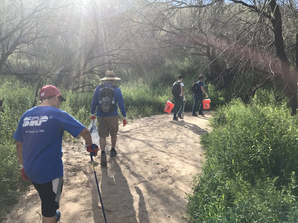 03/11/17 - Butcher Jones Recreation Cleanup Project. Over 160 volunteers removed trash the OHV Areas, the beach and surrounding trails, the parking and picnic area, and Saguaro Lake. Click HERE to view the entire restoration.