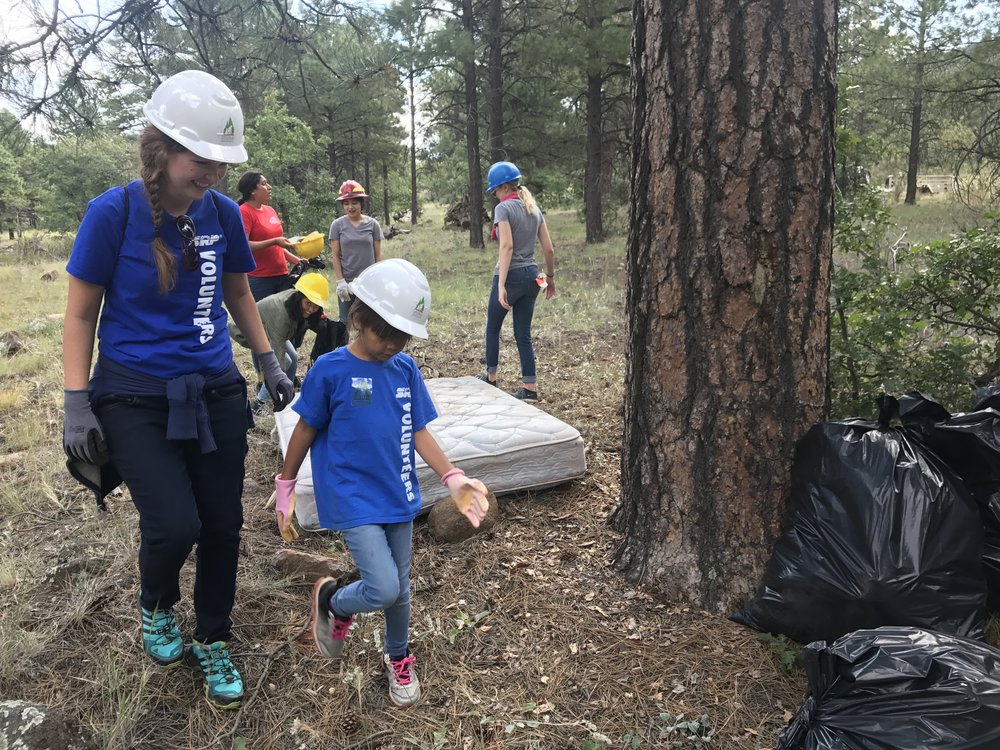 09/10/17 - Trash Cleanup Project along the Arizona Trail & the Areas Surrounding the Trail Behind Mary's Cafe in Flagstaff.  Click HERE to view the entire restoration.