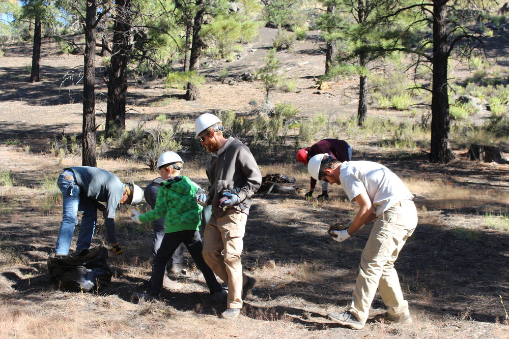 09/23/17 - Trash Cleanup Project at the Cinder Hills OHV Area in Flagstaff.Click HERE to view the entire restoration.