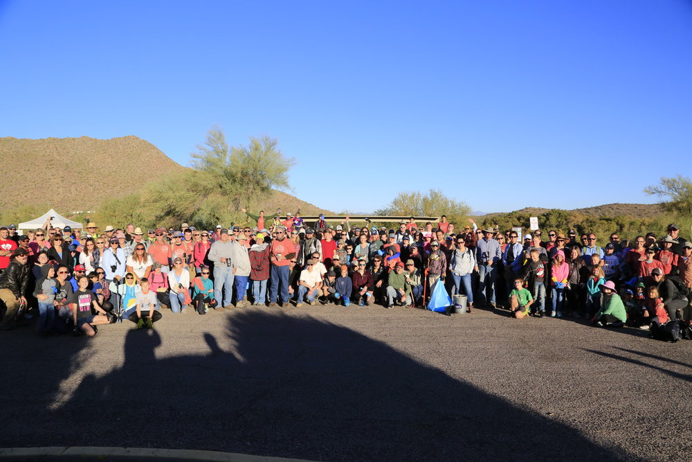 11/24/17 - 1st Annual Green Friday Lower Salt River Cleanup. Volunteers joined us to start a new tradition and think differently about the day after Thanksgiving. Click HERE to view the entire restoration.