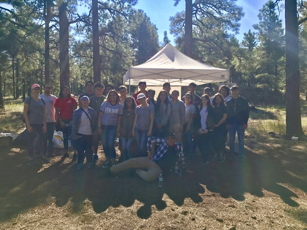 Glendale Conservation Society High School Students -  9/10/17 Cleanup