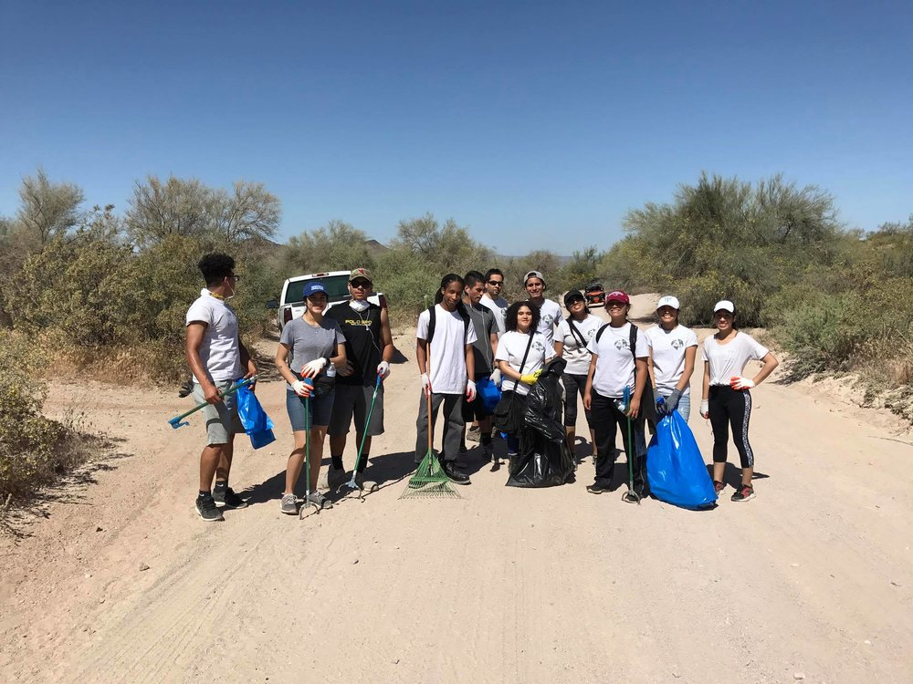 Glendale Conservation Society High School Students -  04/15/17 Cleanup