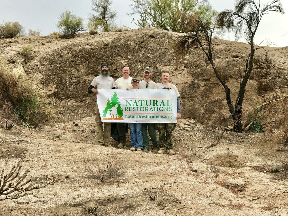 Mesquite Wash OHV Area - December 2017 - In December, our Dedicated Restoration Team removed 6,260 pounds of trash from Mesquite Wash OHV Area. We also removed graffiti from several areas. Click HERE to see pictures from this project.