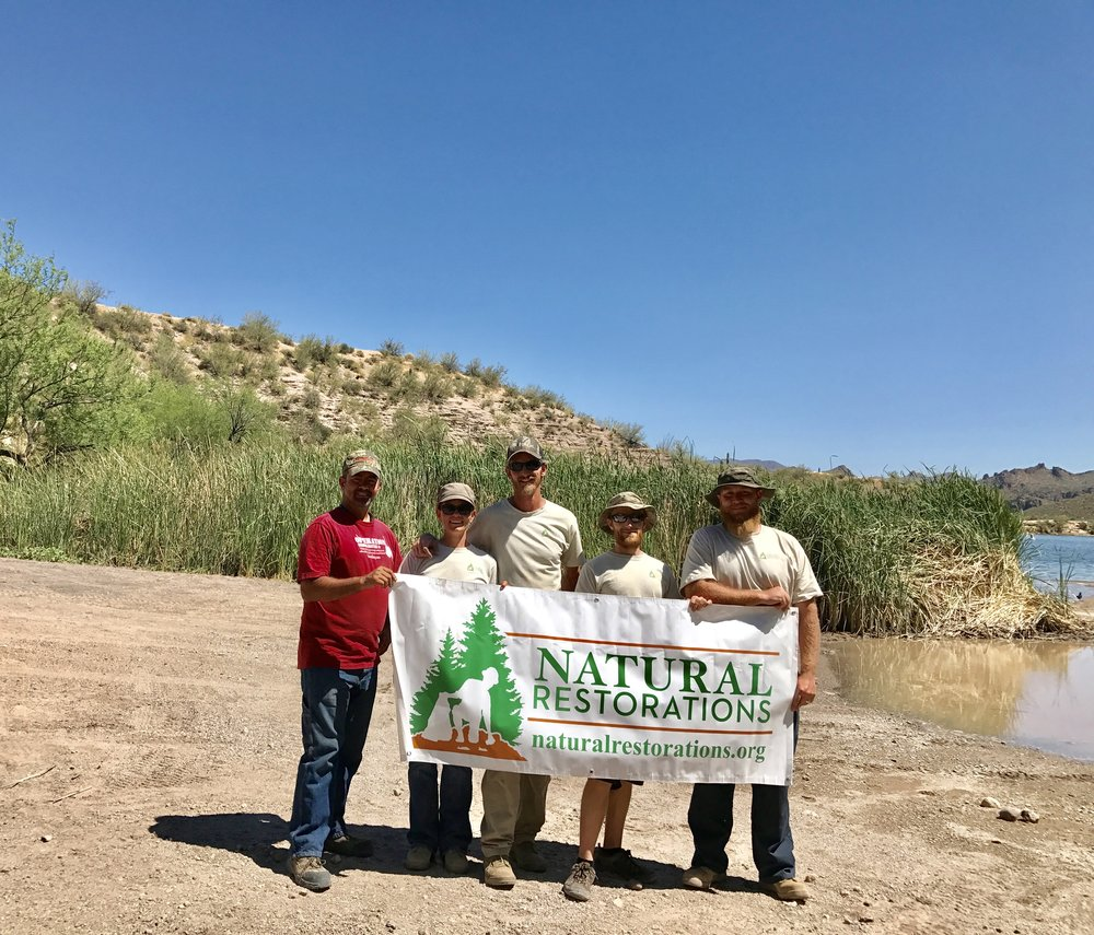 Butcher Jones OHV Area - April 2017 - In April, our Dedicated Restoration Team removed 7,620 pounds of trash from Butcher Jones OHV Area.Click HERE to see pictures from this project.