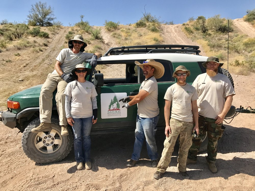 Lower Sycamore OHV Area - April 2017 - IIn April, our Dedicated Restoration Team removed 23,380 pounds of trash from Lower Sycamore.Click HERE to see pictures from this project.