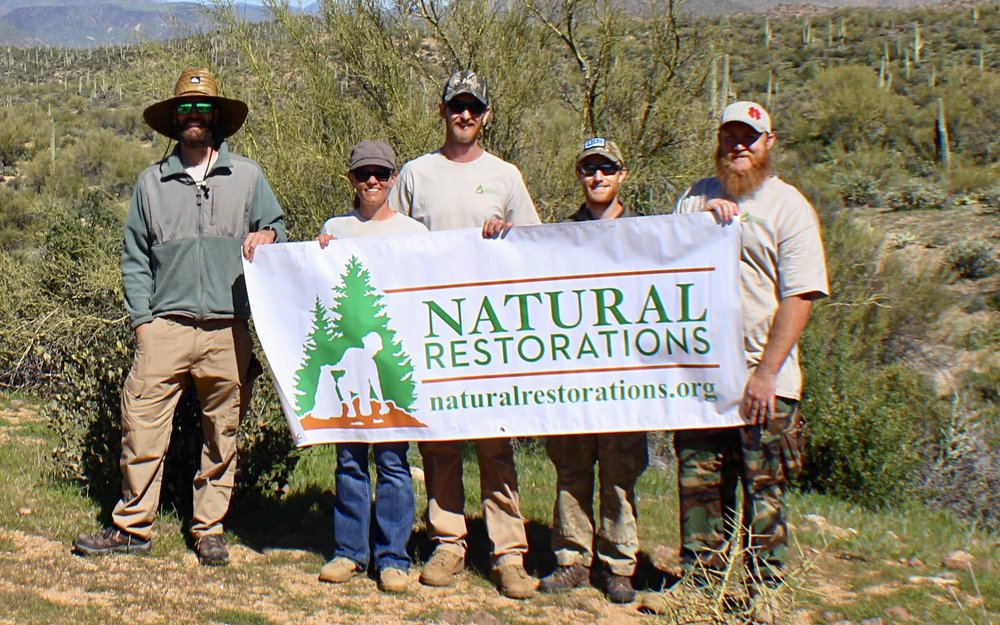 Mesquite Wash OHV Area - February 2017 - In February, our Dedicated Restoration Team removed 11,060 pounds of trash from Mesquite Wash OHV Area.Click HERE to see pictures from this project.