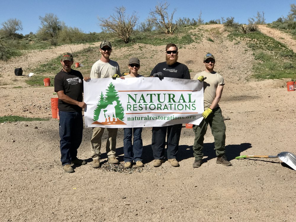 Lower Sycamore OHV Area - February 2017 - We launched our Dedicated Restoration Team in February at Lower Sycamore OHV Area and removed 23,240 pounds of trash and several panels of graffiti from rock faces.Click HERE to see pictures from this project.