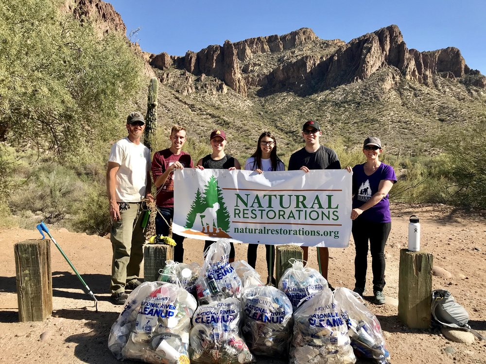 03/30/18 - Lower Salt River Cleanup at Water Users Recreation Area with ASU's Delta Sigma Pi. Click HERE to view the entire restoration.
