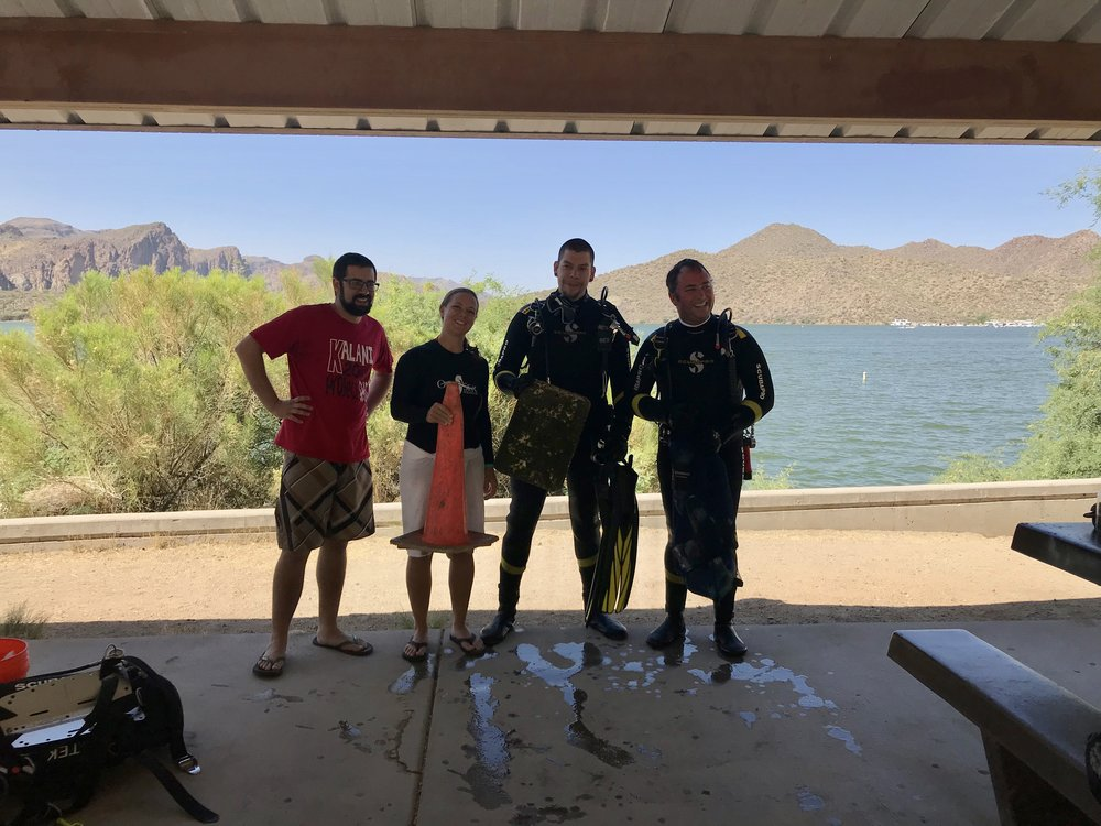 05/12/18 - Saguaro Lake Trash Removal Project with divers from OdySea AquariumClick HEREto view the project.
