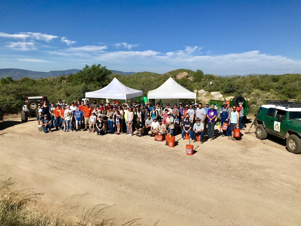 09/01/18 - Doce Pit Cleanup on the Prescott National Forest.Click HERE to view the project.