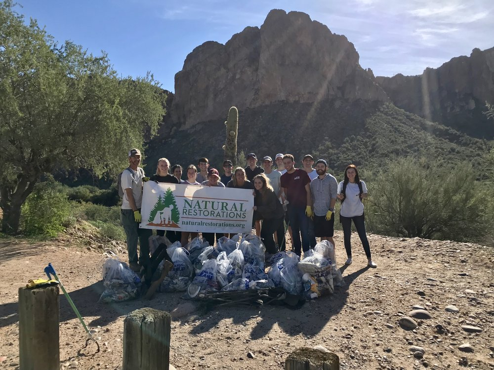 11/04/18 - Lower Salt River Cleanup at Water Users Recreation Area with students from ASU's Delta Sigma Pi.Click HERE to view the project.