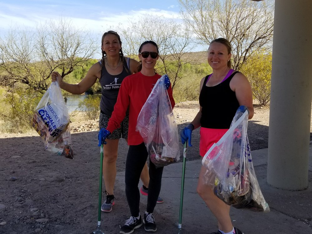 04/02/18 Plogging at Natural Restorations Day After Easter Lower Salt River Cleanup.