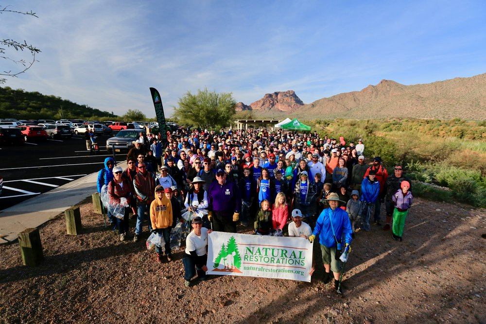 11/23/18 - 2nd Annual Green Friday Lower Salt River Cleanup at Phon D Sutton Recreation Area.Click HERE to view the project.
