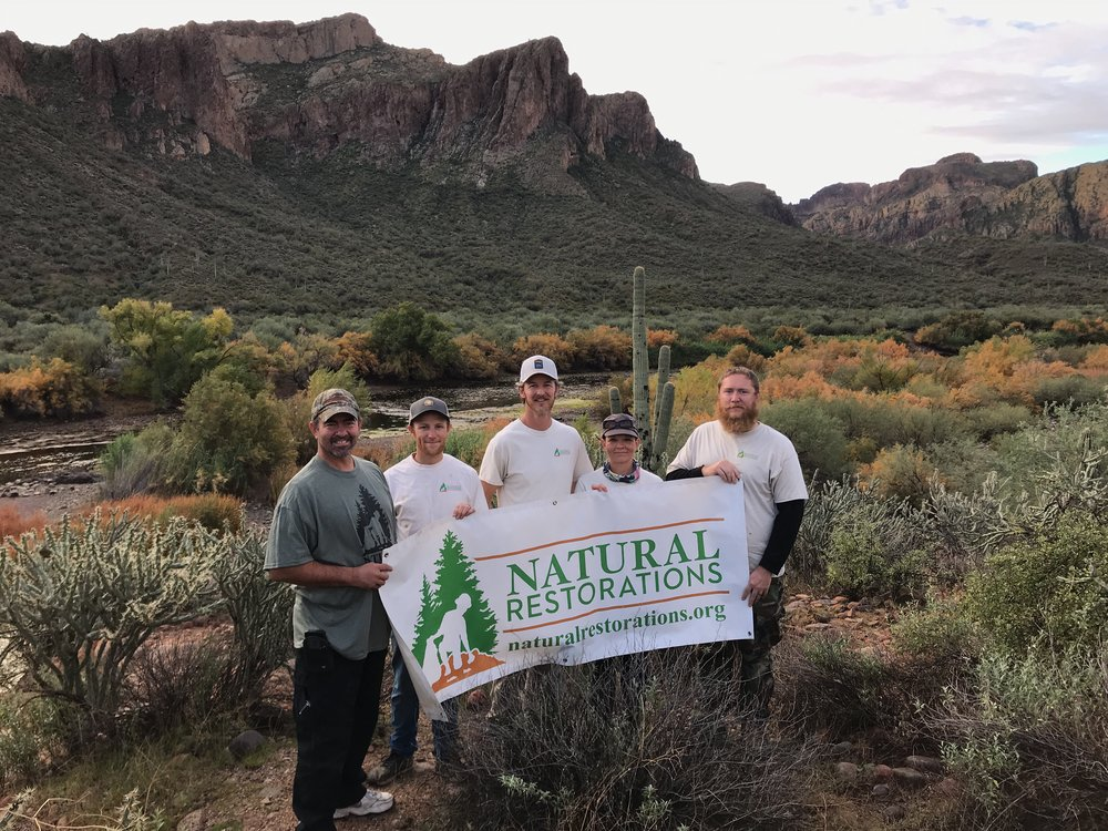 Lower Salt River & Saguaro Lake - December 2018 - In December 2018, through a grant from ON Semiconductor, our Dedicated Restoration Team removed 3,704 square feet of graffiti and 3,620 pounds of trash from the Lower Salt River and Saguaro Lake.Click HERE to see pictures from this project.