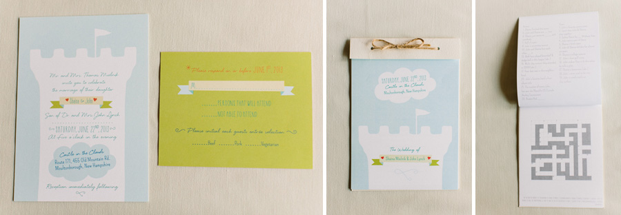 Castle In the Clouds Invitation
