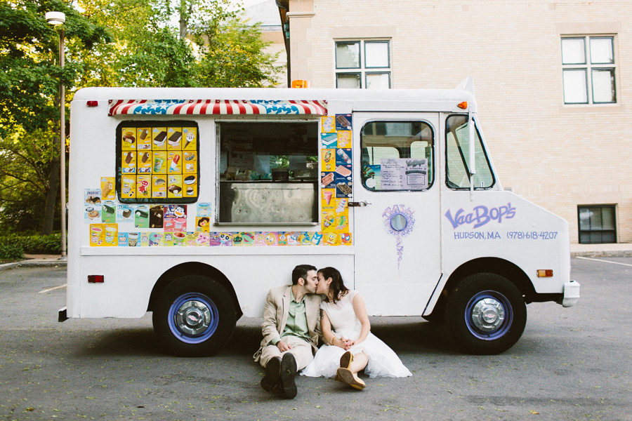 Ice Cream Truck Wedding Photography