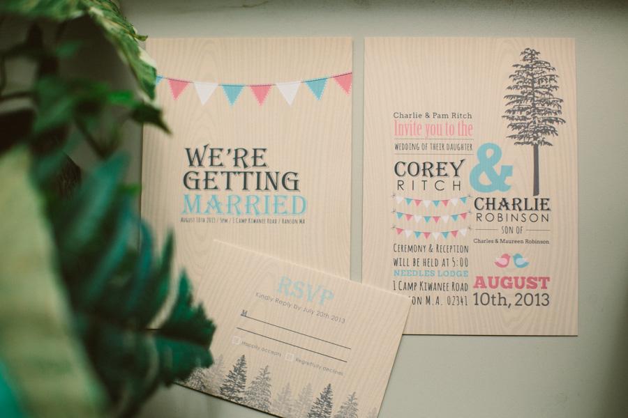 Camp Kiwanee Wedding Invitation