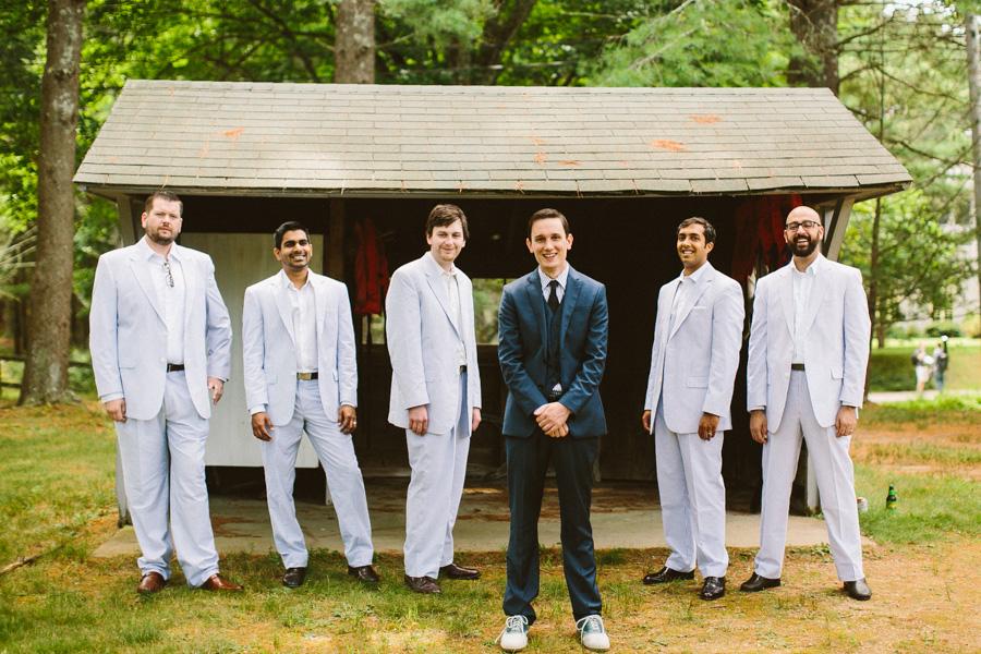 Whispering Pines Wedding Groomsmen