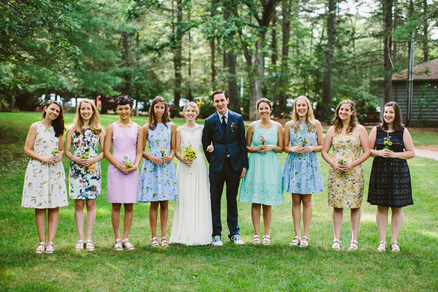Whispering Pines Wedding Bridesmaids