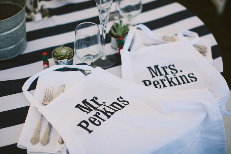 Custom Wedding Aprons