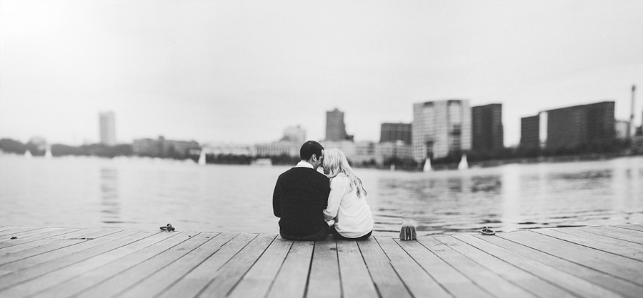 Boston esplanade engagement session