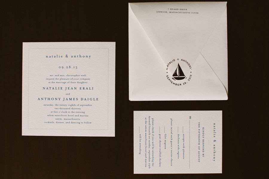 Salem Waterfront Hotel Wedding Invite