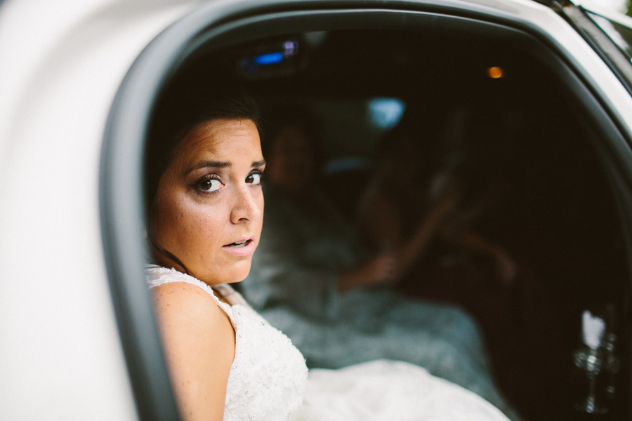 Bride Exiting Limo