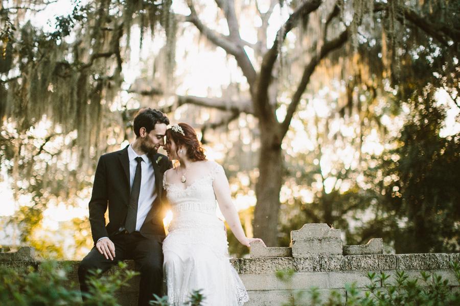 Spanish Moss Wedding Portrait