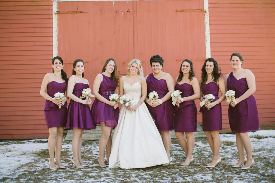 Barn Wedding Bridesmaids