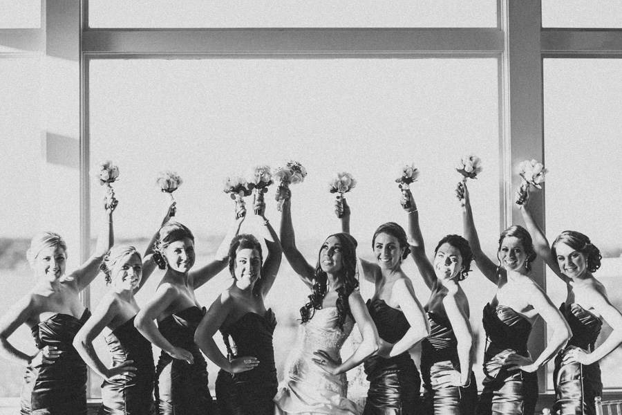 Ocean Cliff Wedding Bridal Party