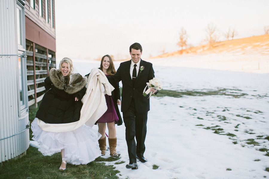 Winter Barn at Gibbet Hill Wedding