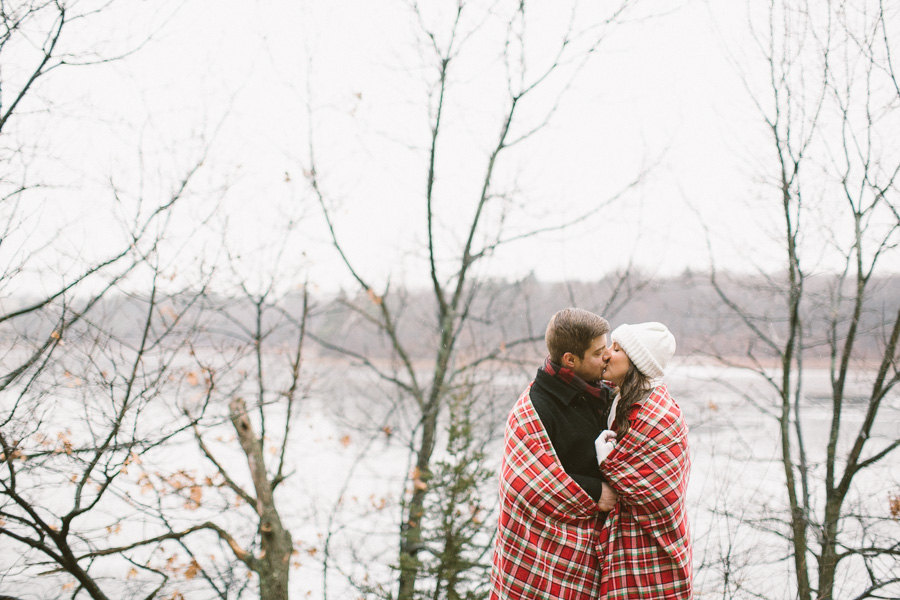 New England Rainy Engagement Session