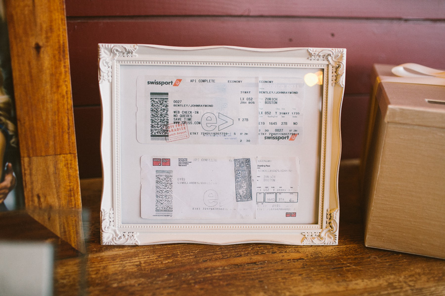 Framed Plane Tickets